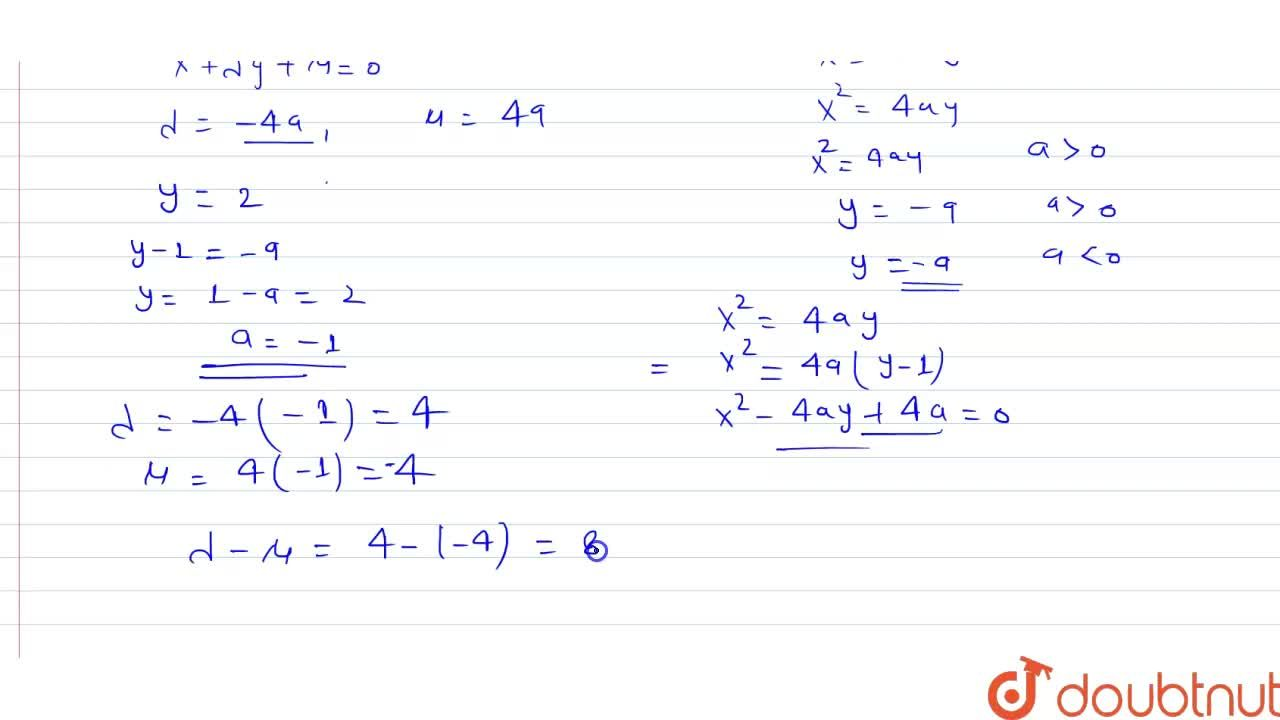 Solution for If y=2 is directrix and (0,1) be the vertex of