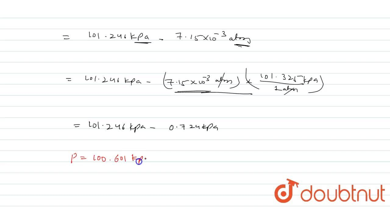 Solution for Calculate the pressure exerted by one mole of CO_