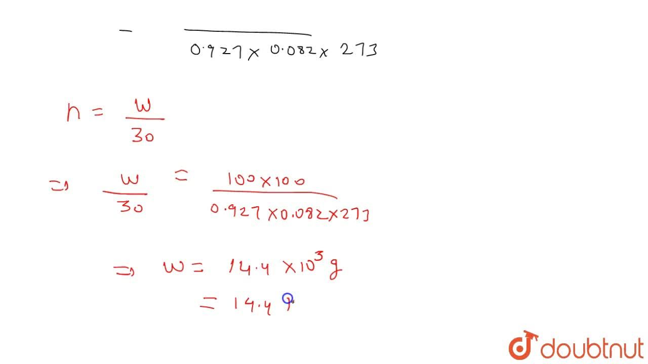 Solution for The compressibility factor for a given real gas is