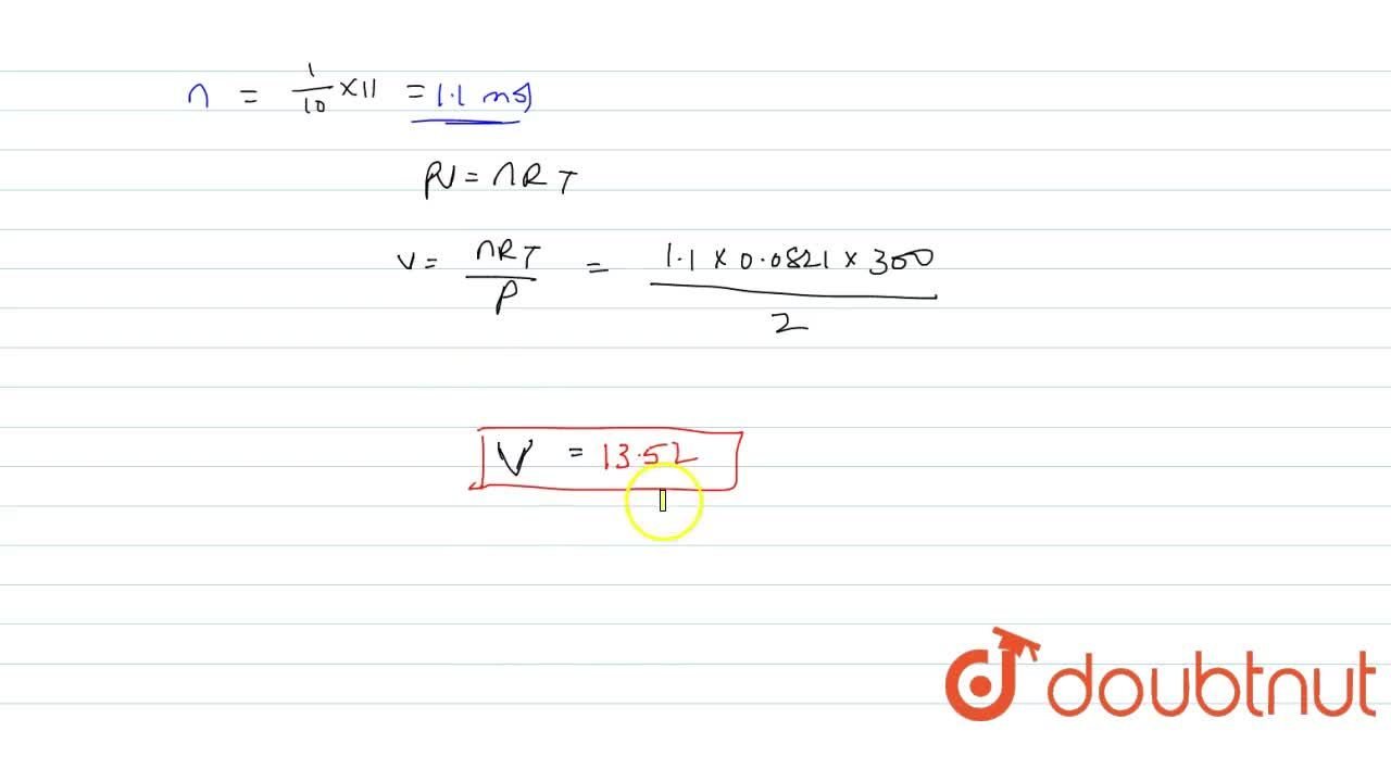Solution for What volume of O_(2) at 2.00 atm pressure and 2