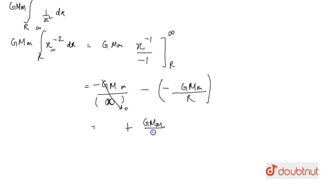 Solution for Evaluate int_(R)^(oo)(GMm),x^(2)dx