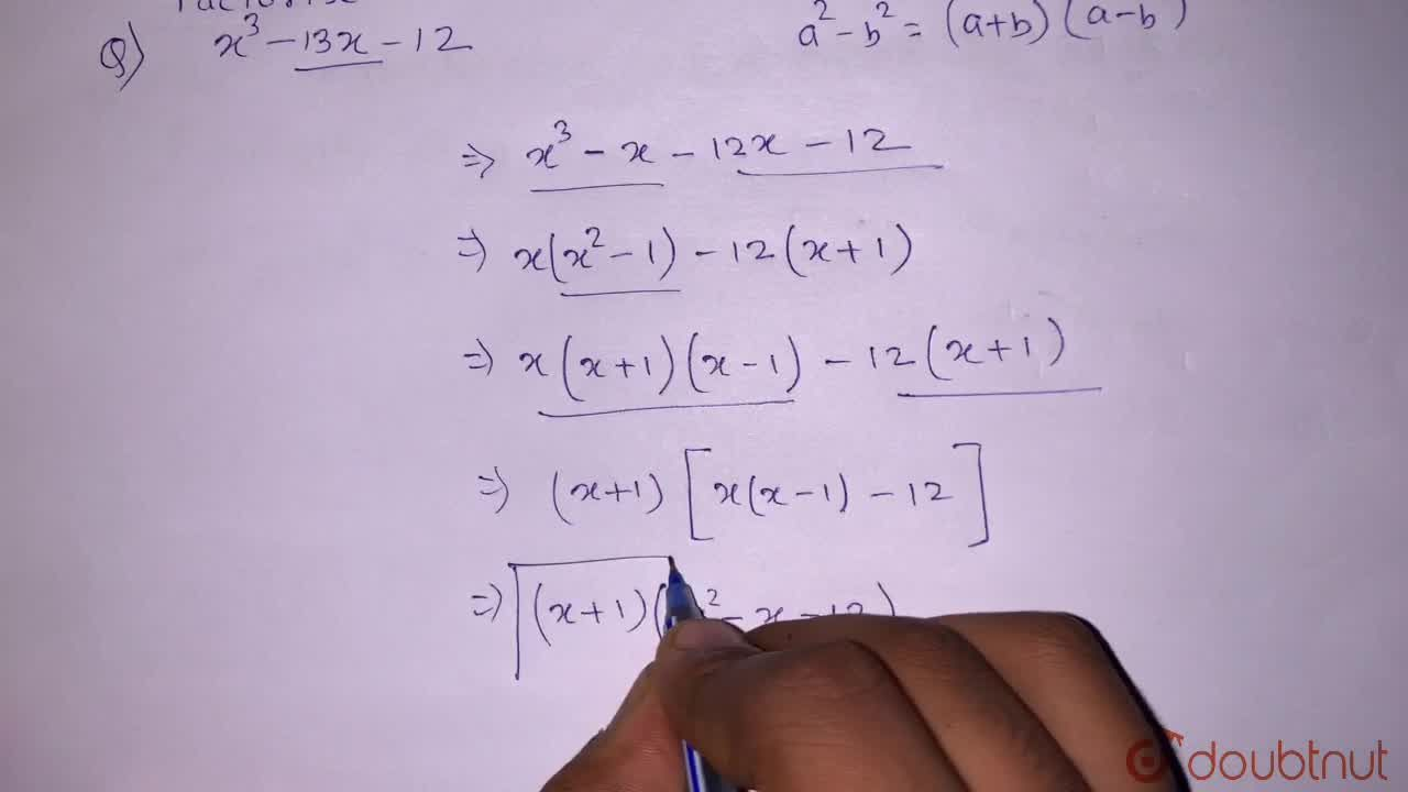 Solution for x^(3)-13x-12