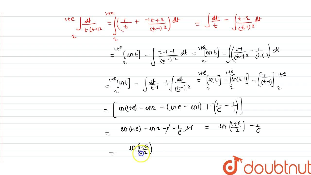 Solution for int_0^1 e^-x,(1+e^x)dx