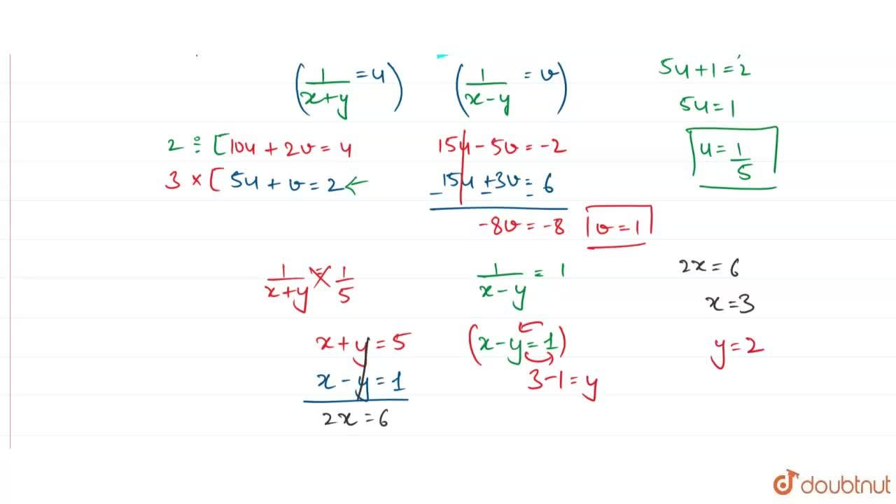 Solution for Solve the simultaneous equations.  <br> 10,(x+y)