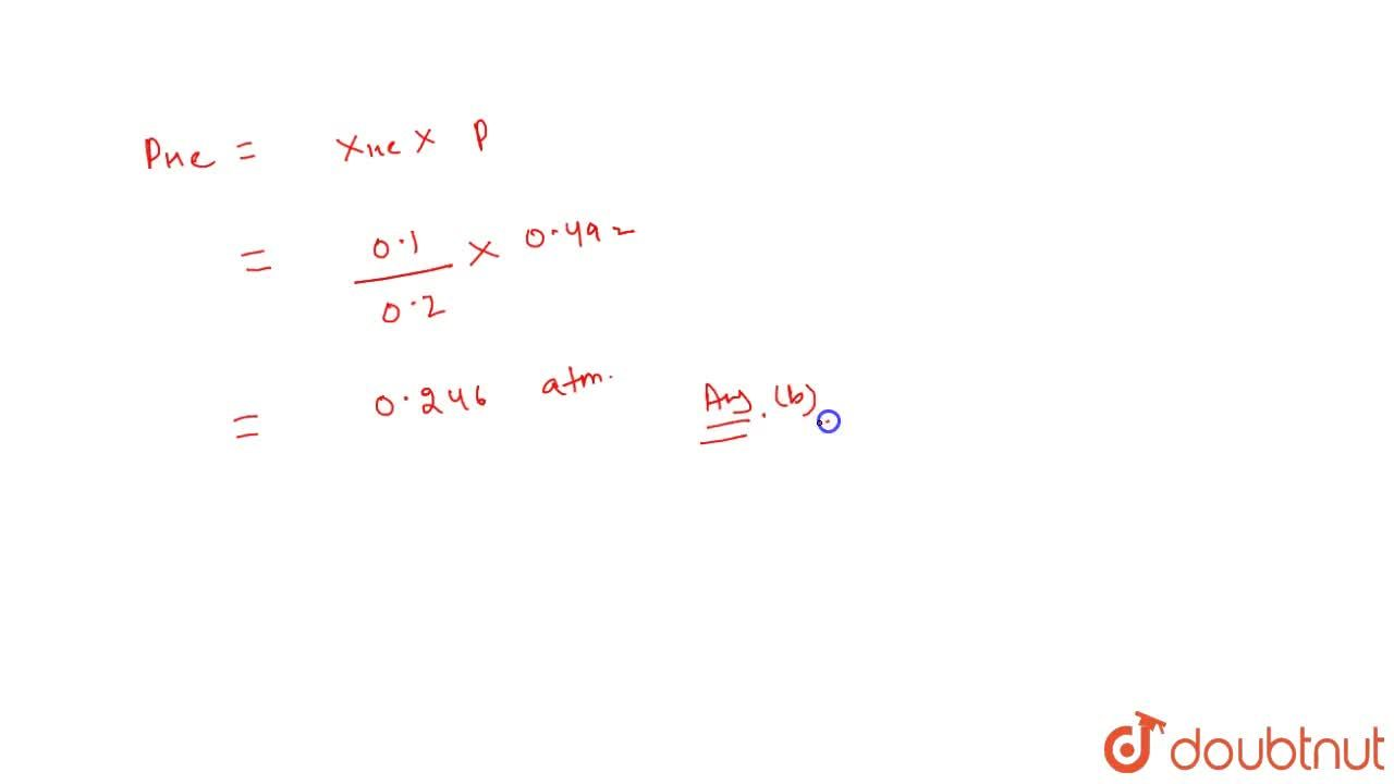 Solution for Calculate the total pressure in a 10 litre cylinde