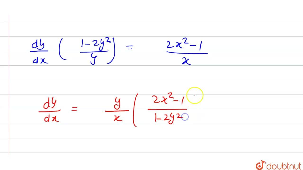 Solution for (dy),(dx) ज्ञात कीजिए <br>  logxy=x^(2)+y^(2)