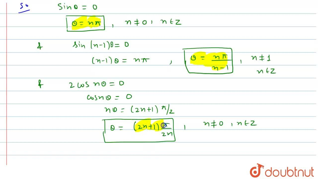 sin^2 n theta- sin^2 (n-1)theta= sin^2 theta where n is constant and n != 0,1