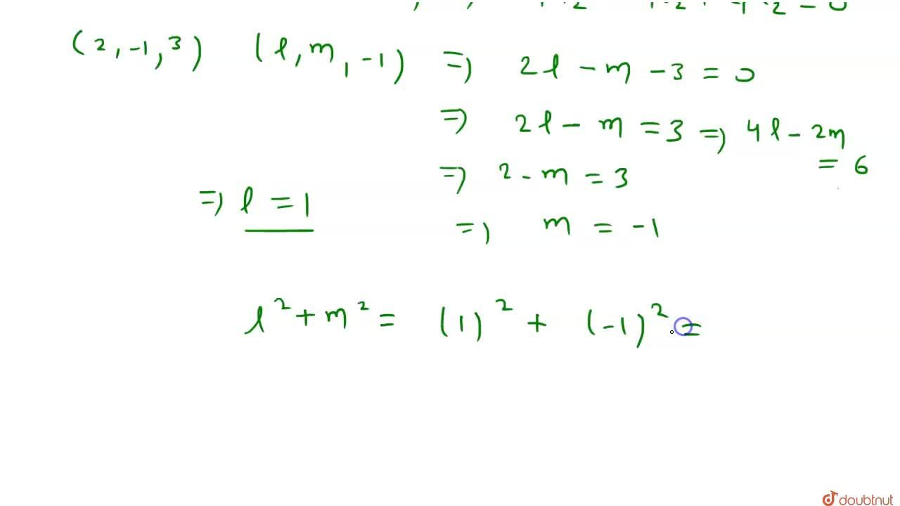Solution for यदि रेखा (x-3),(2) = (y+2),(-1)=(z+4),(3), समतल