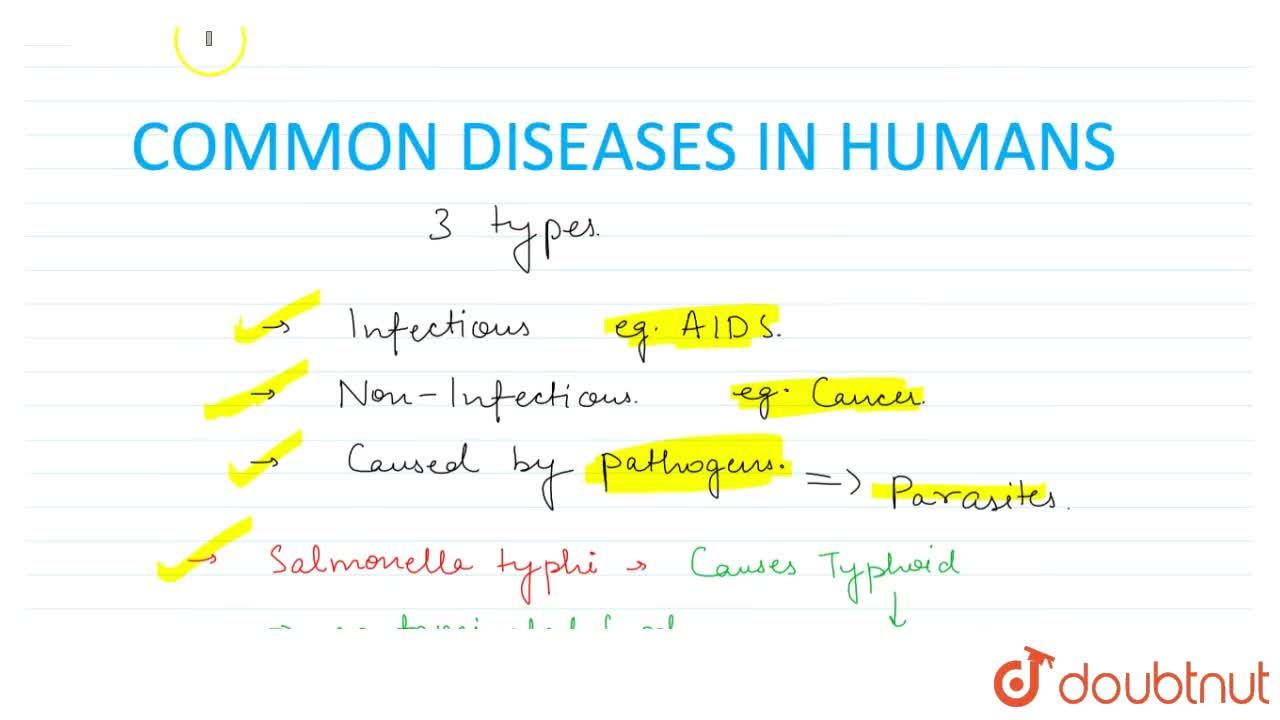 Solution for Common Diseases In Humans