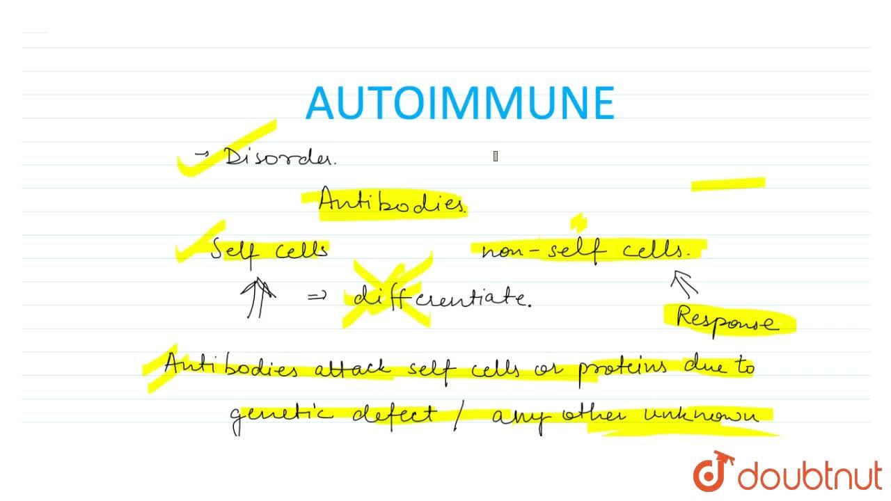 Solution for Auto Immunity