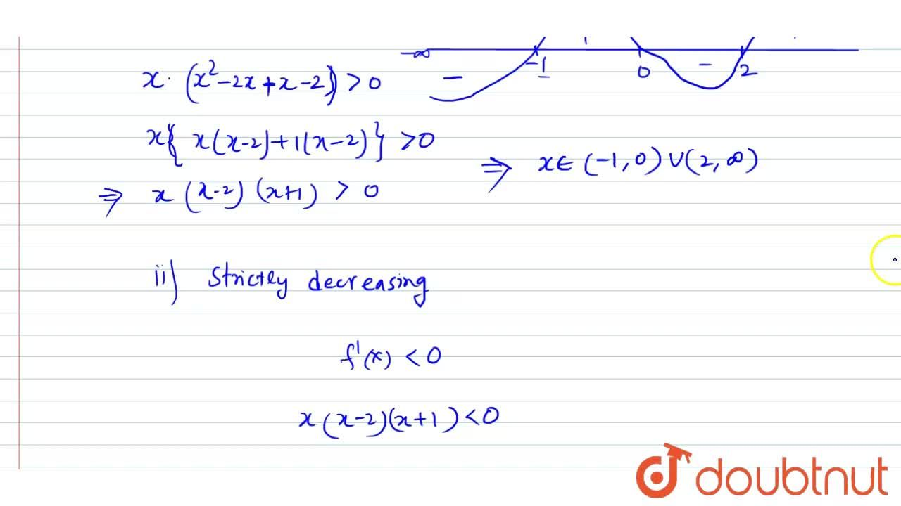 Solution for Find the intervals in which the function f(x)=3x^