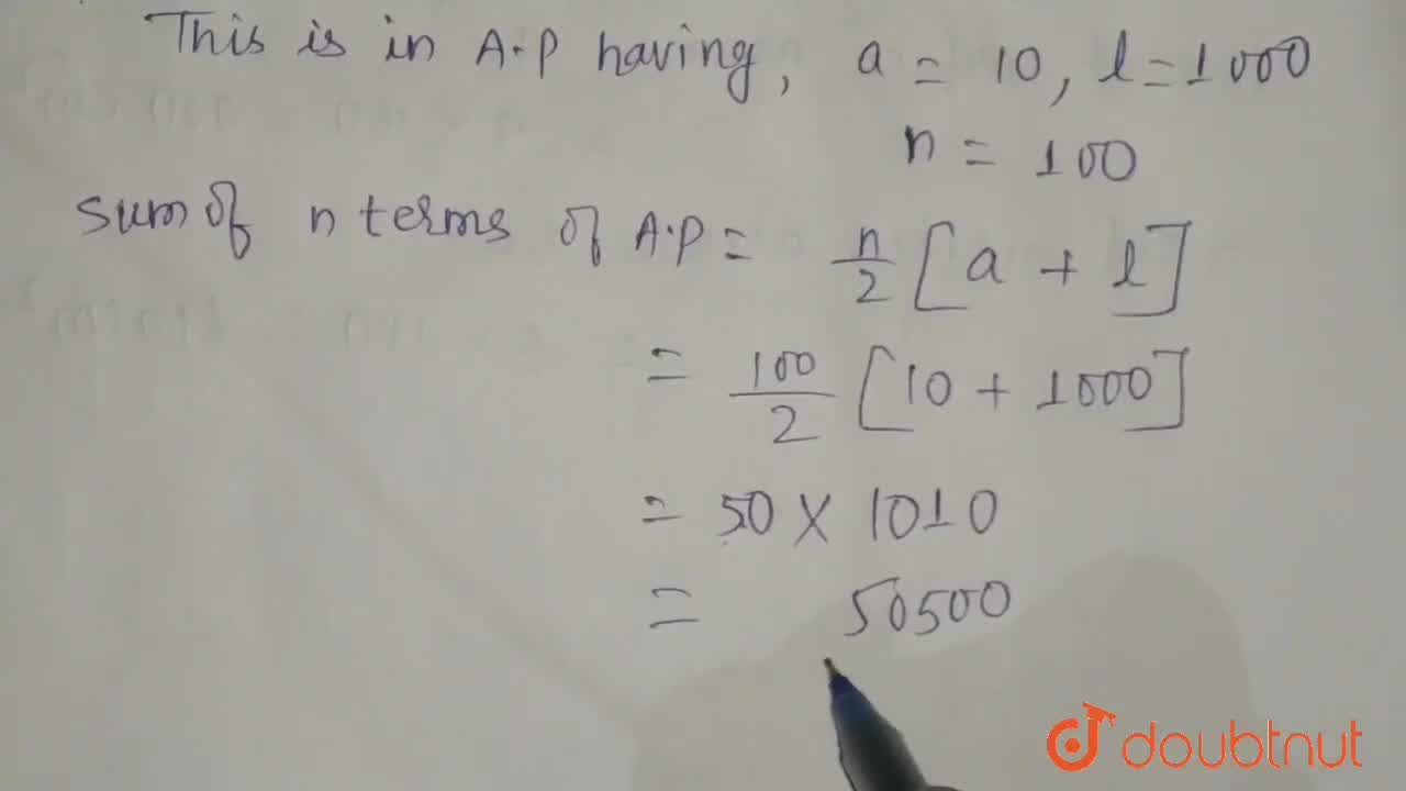 Solution for Find the sum of first 100 even natural numbers whi