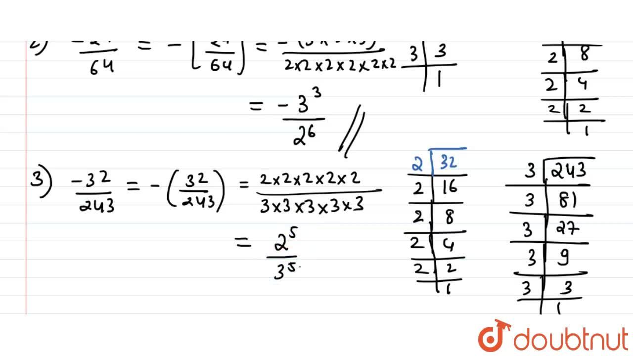 Solution for Express each of the following in power notation: (