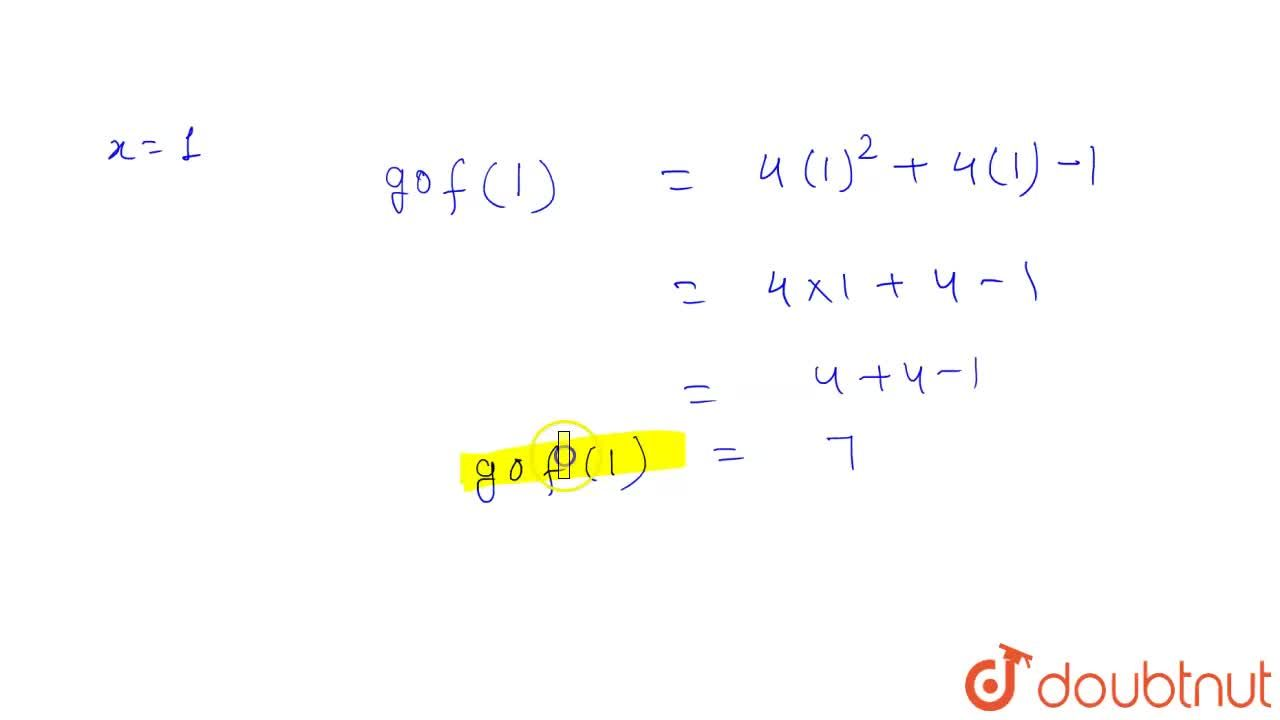 Solution for यदि f : R to R , f(x) = 2x+1  तथा  g: R to R ,