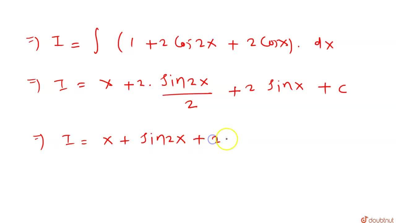 """Solution for  int (""""sin""""(5x),(2)),(""""sin""""(x),(2))dx  बराबर है,"""