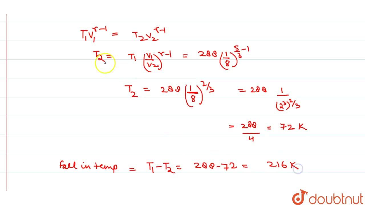 Solution for Calculate the fall in temperature of helium initia