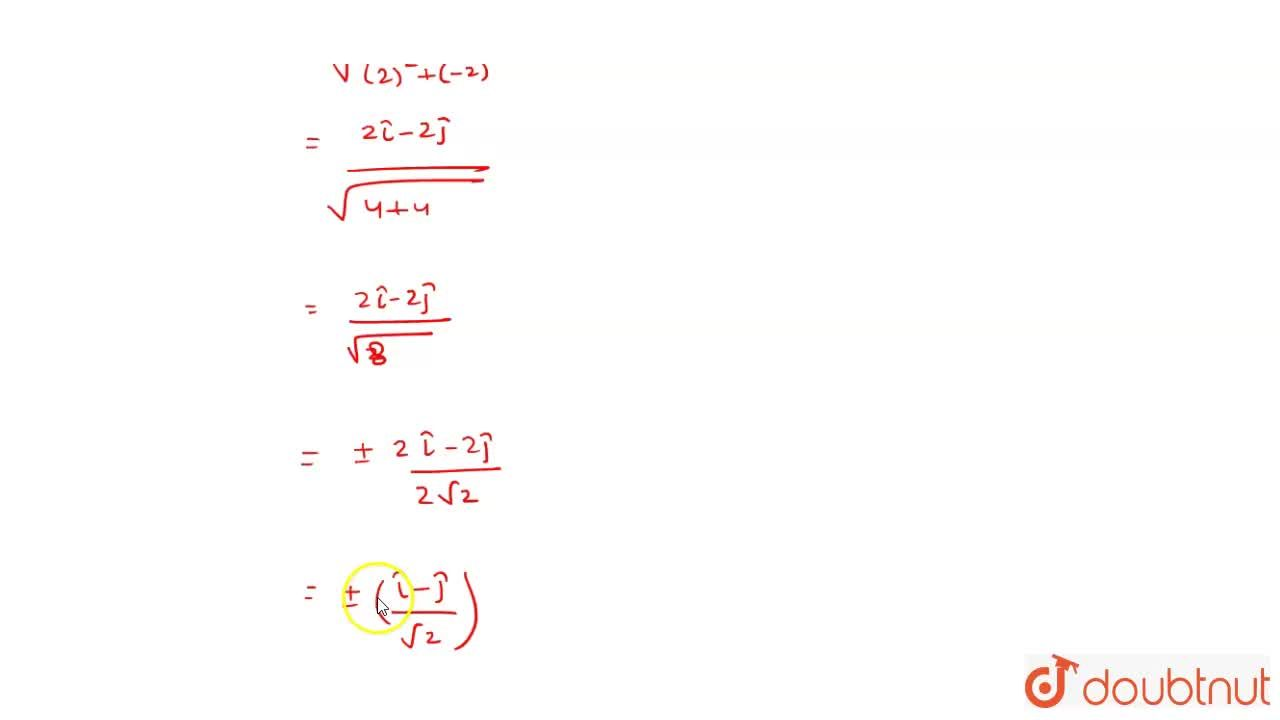 Solution for A unit vector perpendicular  to the plane passing