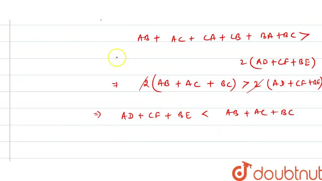 Solution for Show that the sum of   the three altitudes of a t