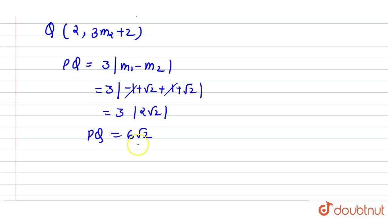 Solution for Tangent are drawn from the point (-1,2) on the p