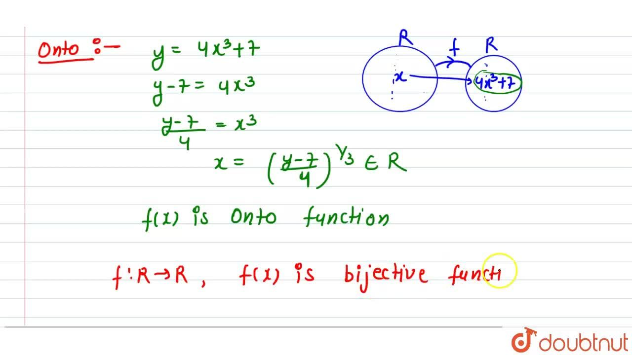 Solution for If f: R->R be the function defined by f(x)=4x^3