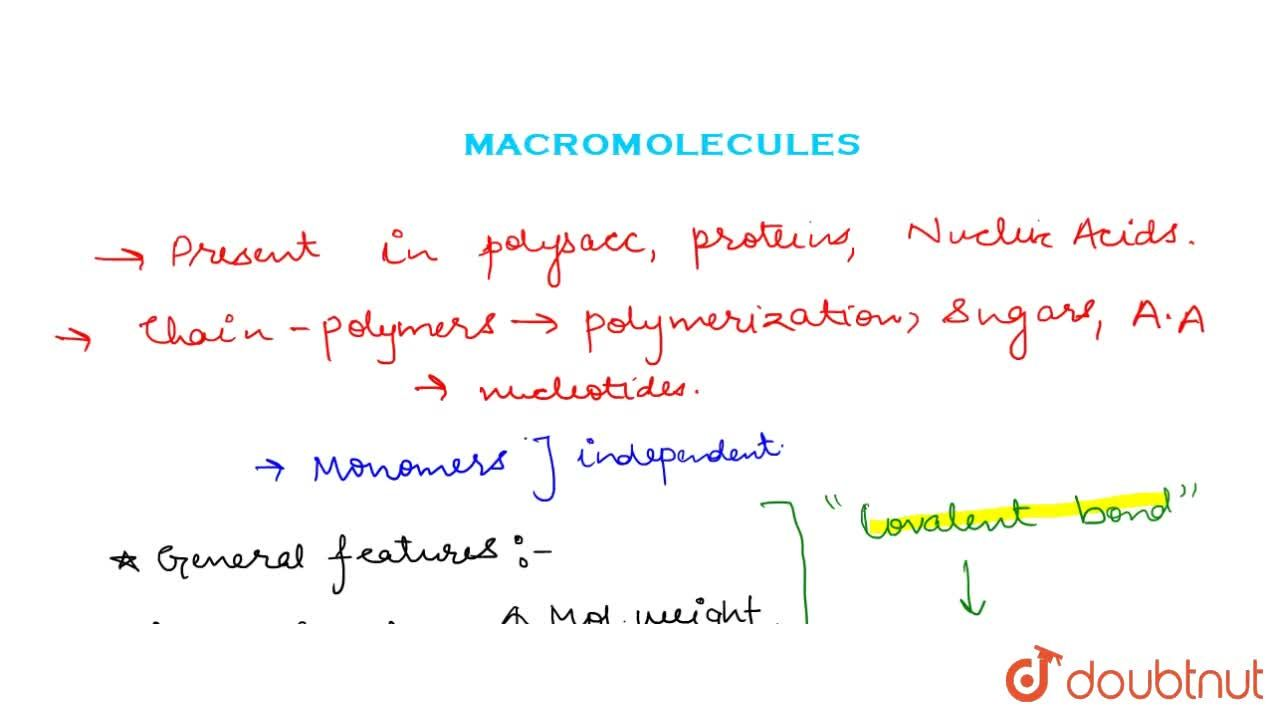 Solution for Macromolecules