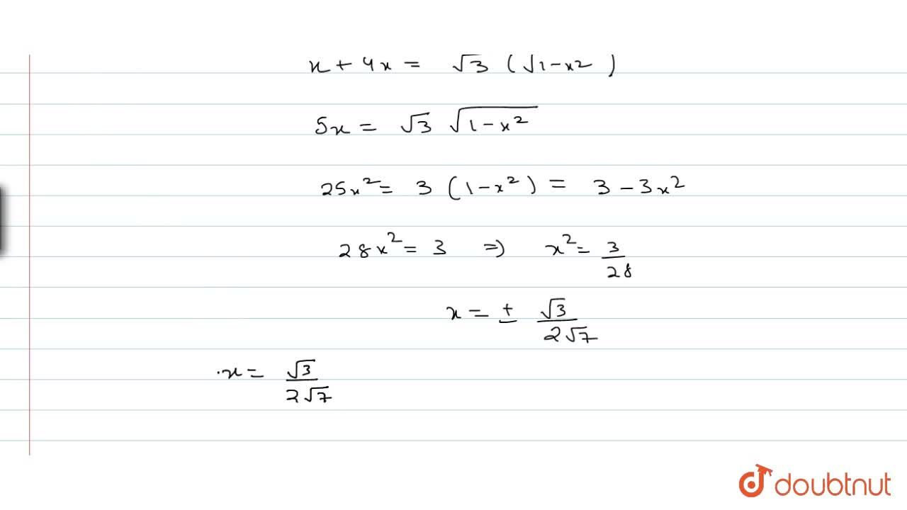 Solution for Solve : sin^(-1)( x) + sin^(-1)( 2x) = sin^(-1)(s