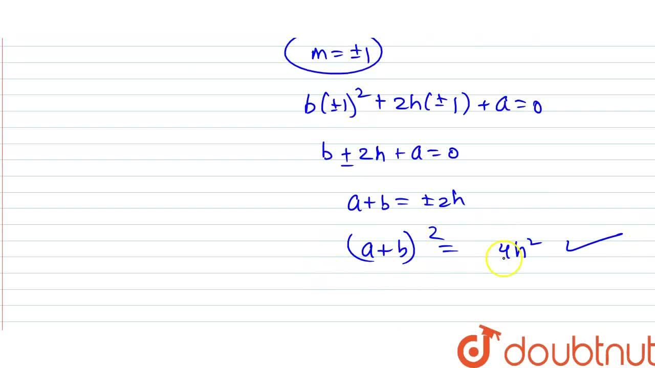 Solution for If one of the lines denoted by the line pair a x^