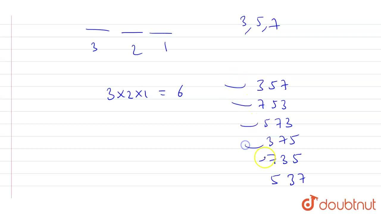 The number of 3-digit numbers that can be formed using the digits 3, 5 and 7 without repetition is____.