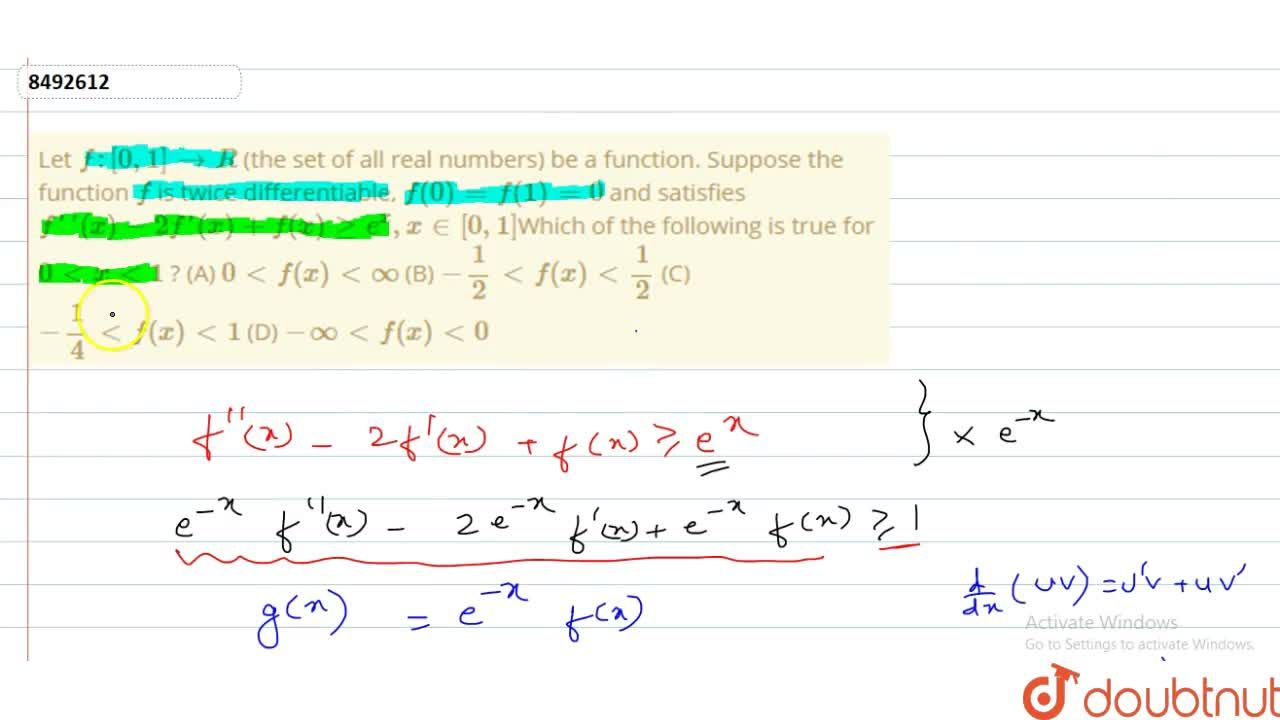 Solution for Let f:[0,1]rarrR (the set of all real numbers) b