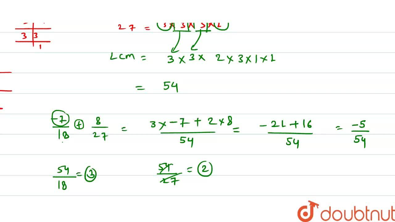 Solution for Add the rational numbers: (-5),(16)\ a n d7,(24)