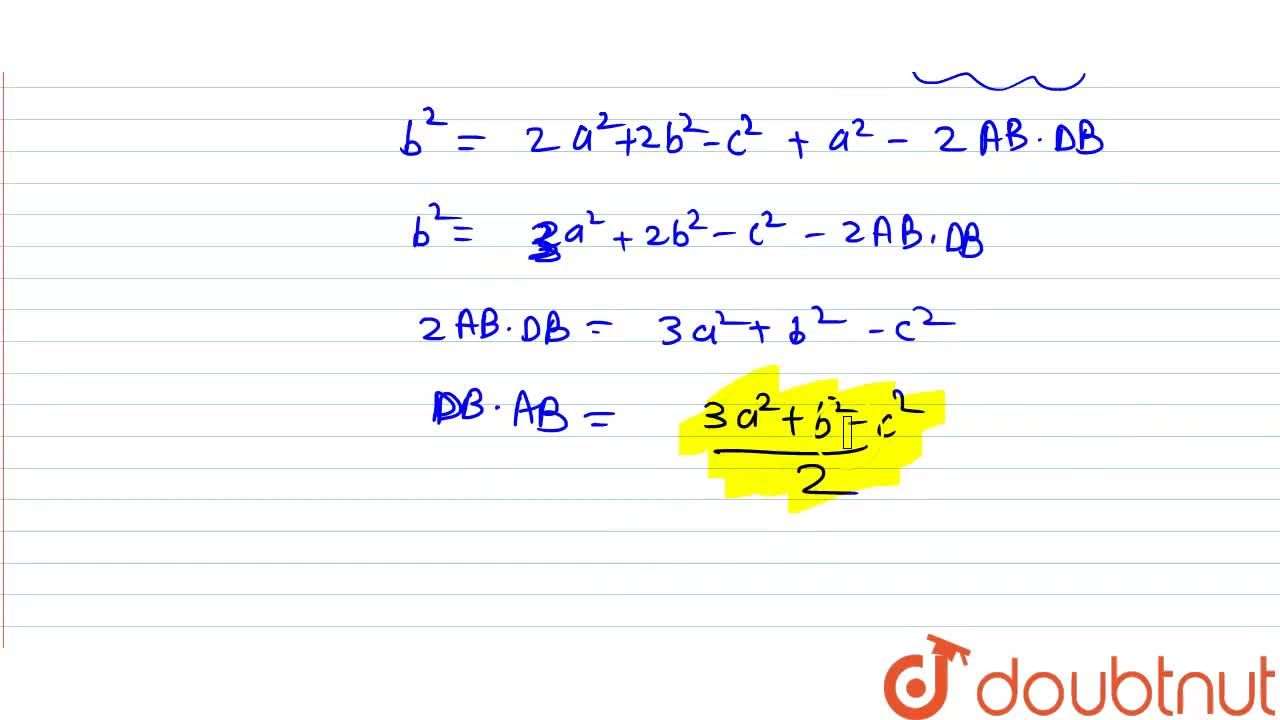 Solution for Given a parallelogram ABCD. If |vec(AB)|=a, |ve