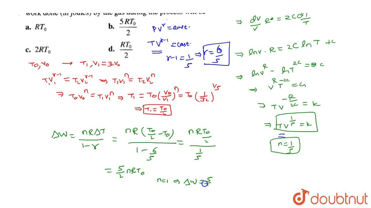 Solution for An ideal diatomic gas is expanded so that the amou