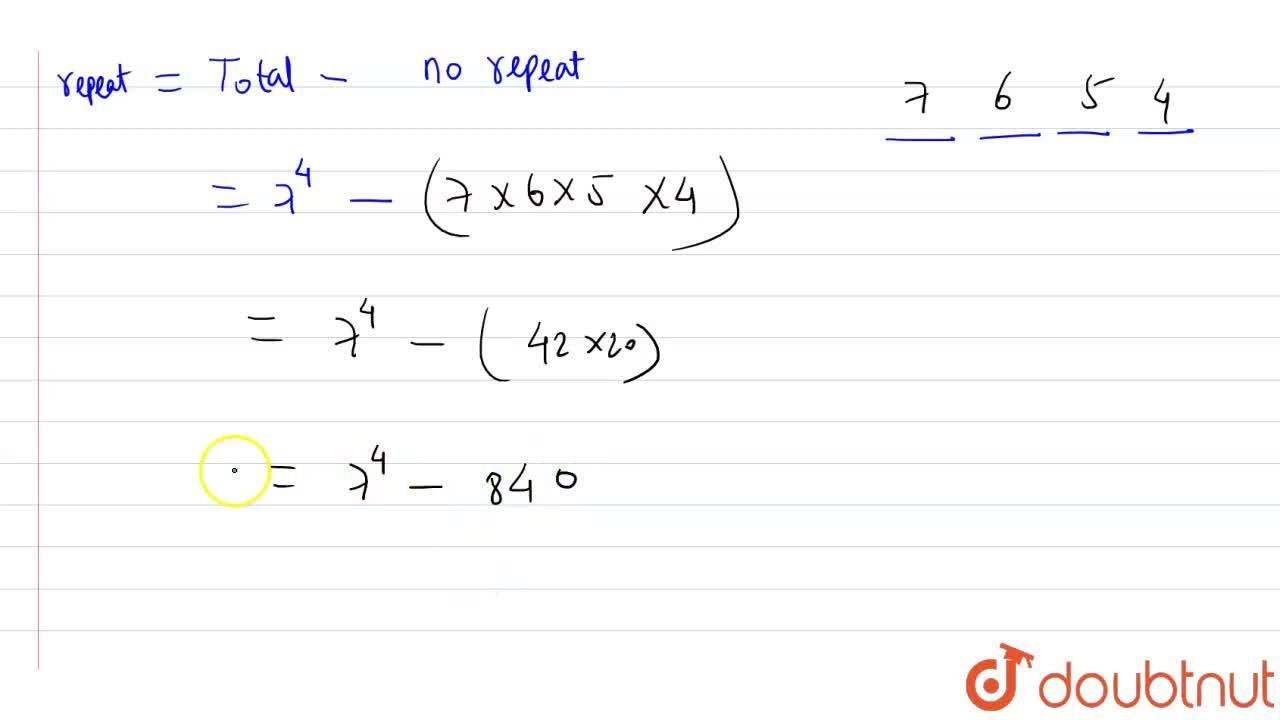 Solution for How many four-digit numbers can be formed by using