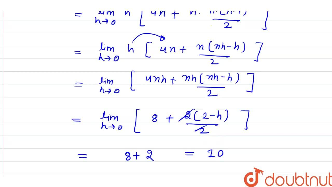 Solution for underset(0)overset(2)int(x+4)dx का मान योगफल की
