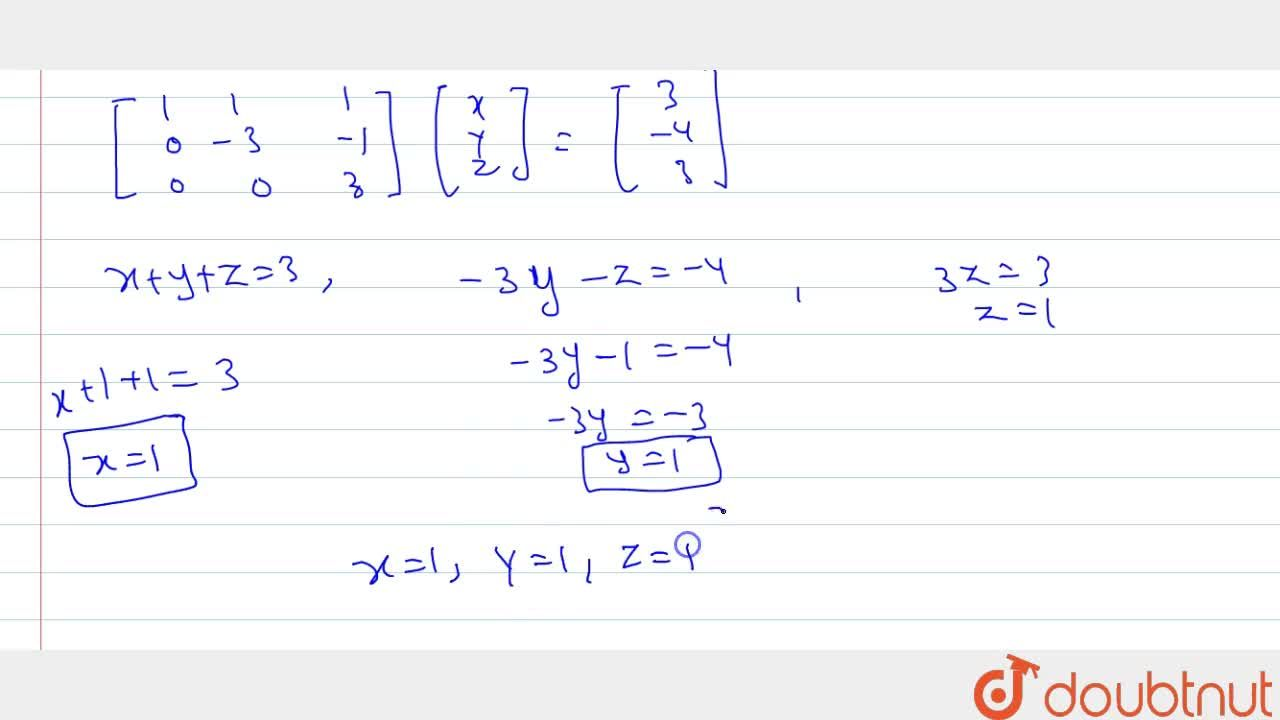 Solution for Solve the following system of linear equations by