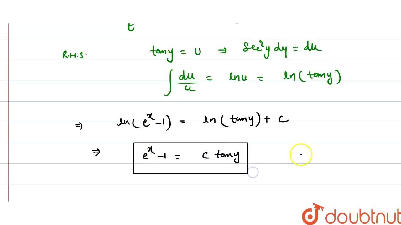 Solution for Solve the following differential equation:   e^xt