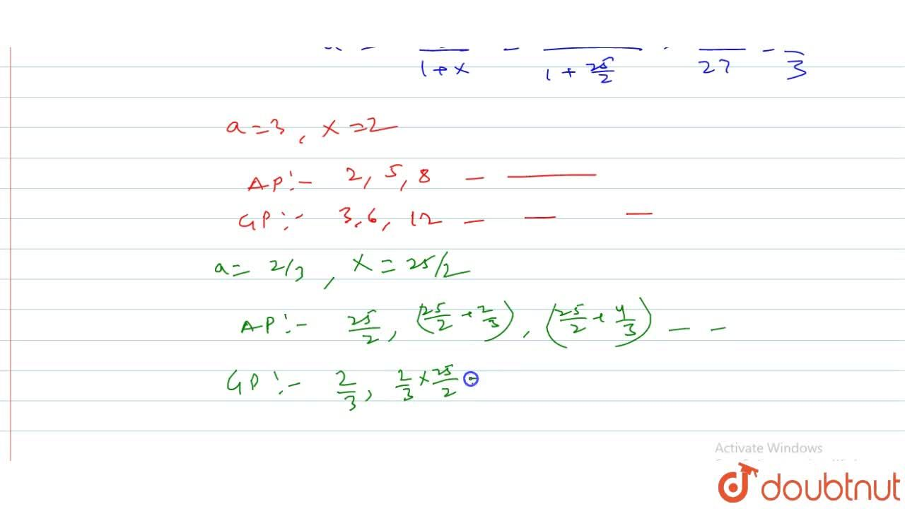 Solution for The sum oif the first ten terms of an A.P. is equa