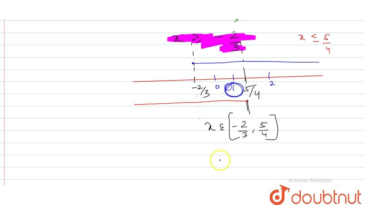 Solution for Find the values of x which satisfy the inequation: