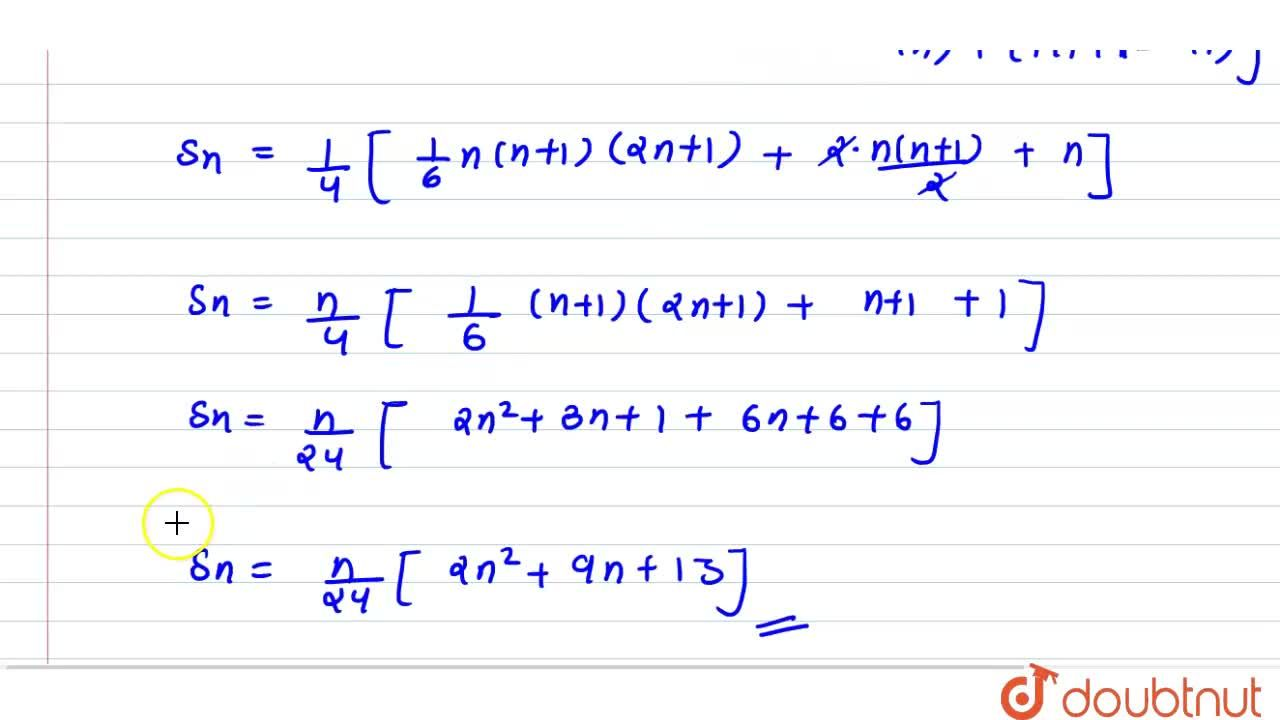 Find the sum of the series (1^3),1+(1^3+2^3),(1+3)+(1^3+2^3+3^3),(1+3+5)+ up to n terms.