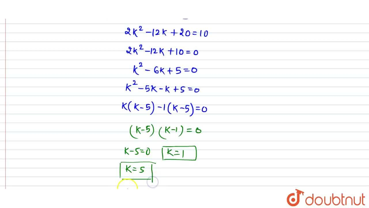 If the point P(k-1, 2) is equidistant from the points A(3, k) and B(k, 5), find the values of k.