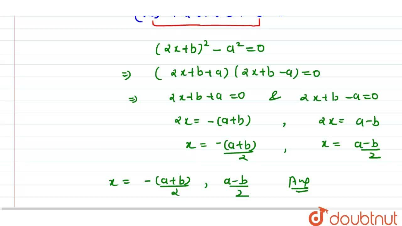 Solution for Solve the following quadratic equation for x:4x^2