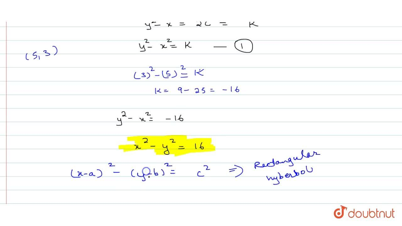 Solution for A curve passes through the point (5,3) and at an