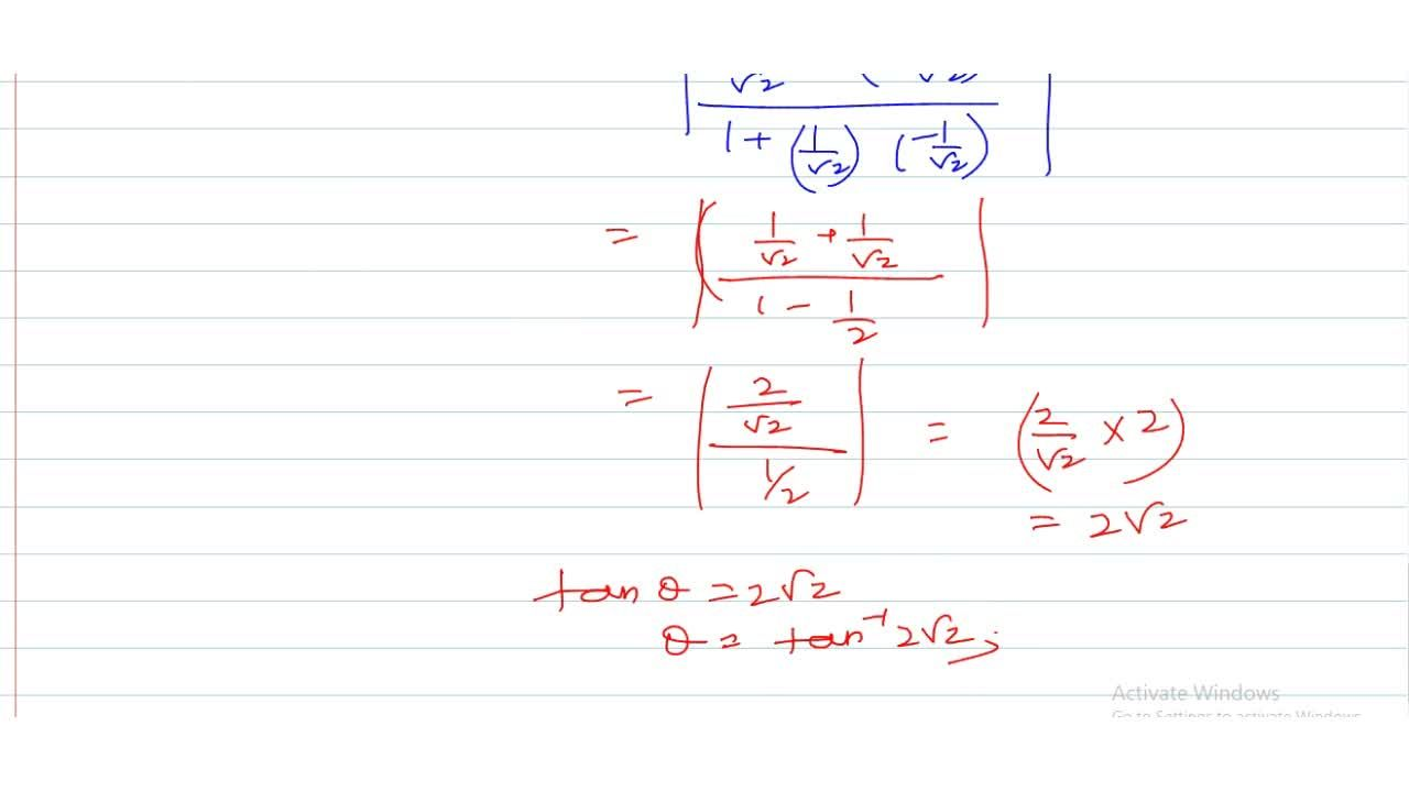 The angle between the curves y = sinx and y = cosx is
