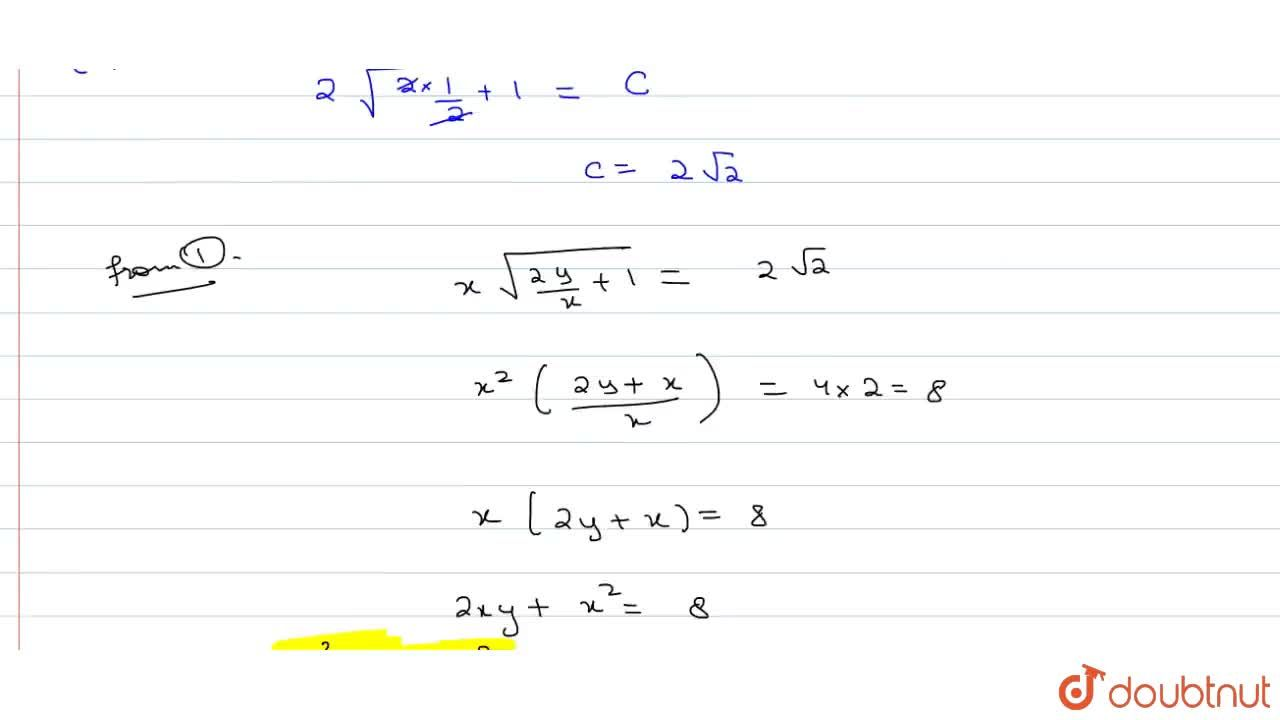 Prove that the equation of a curve whose slope at (x,y) is -(x+y),x and which passes through the point (2,1) is x^2+2xy=8