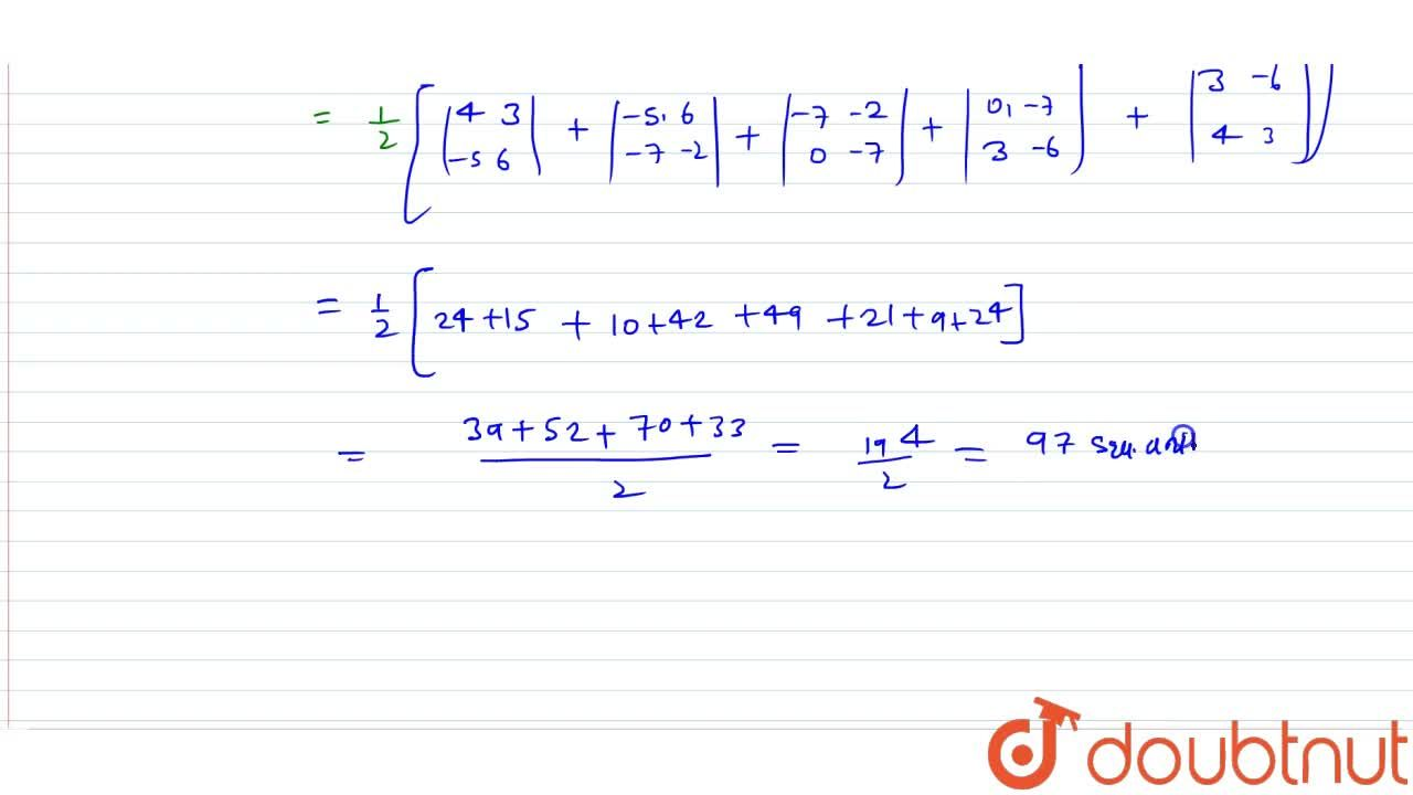 Find the area of the pentagon whose vertices are (4, 3), (-5, 6), (0, -7), (3, -6), (-7, -2)
