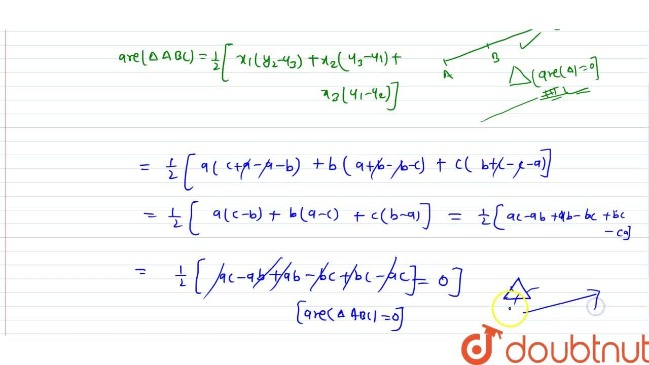 Solution for Prove that the points (a, b + c), (b, c + a) and