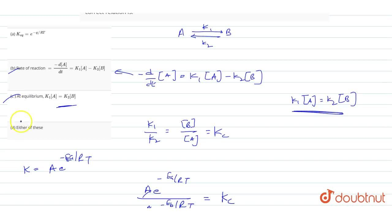 Solution for A certain endothermic reaction: Ararr Product,