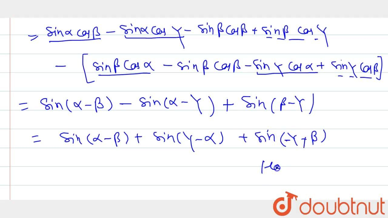 Solution for Prove that:  (sinalpha, cosalpha, 1),(sinbeta, co