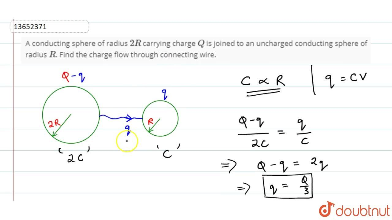 Solution for A conducting  sphere of radius 2R carrying charg