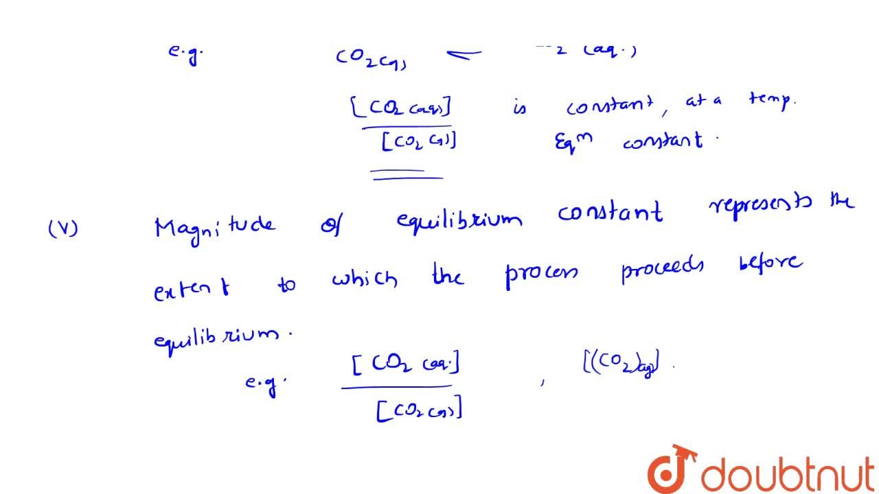 Solution for Equilibrium Involving Dissolution Of Solid Or Gase